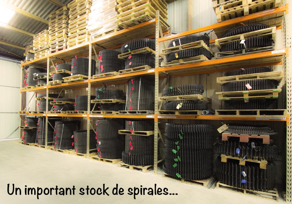 Stock spirales